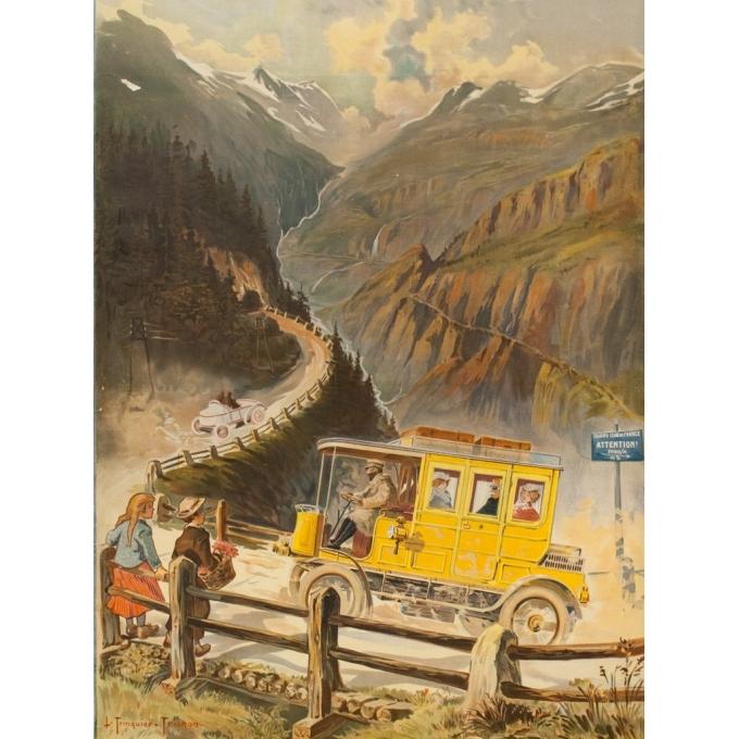 Affiche ancienne de publicité - Trinquier-Trianon - 1903 - Automobile À Vapeur Gardner Serpollet - 129 par 75 cm - 2