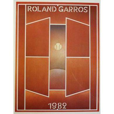 Affiche originale de Roland Garros 1982 par Jean-Michel Folon. Elbé Paris.