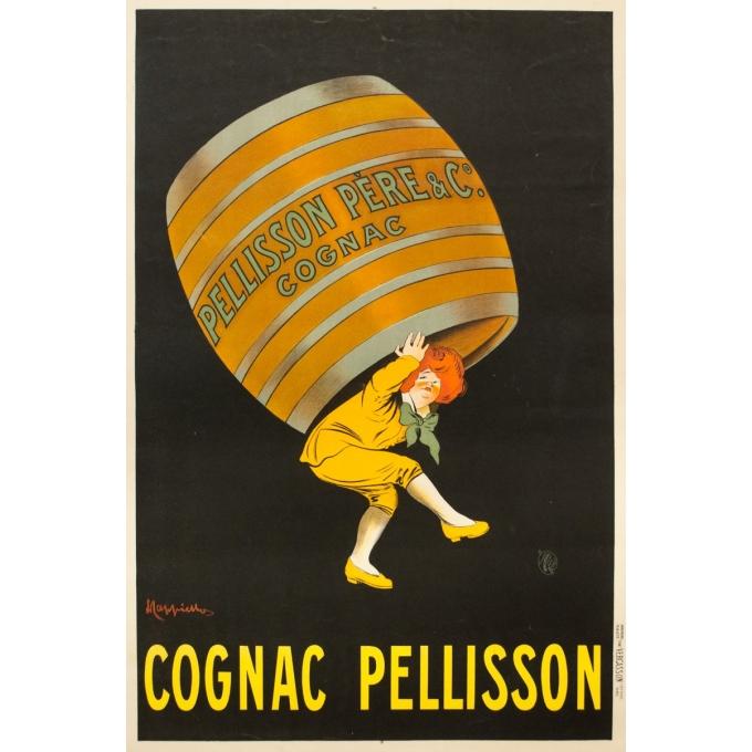 Affiche ancienne de publicité - Leonetto Cappiello - 1907 - Cognac Pellisson - 118 par 78.5 cm