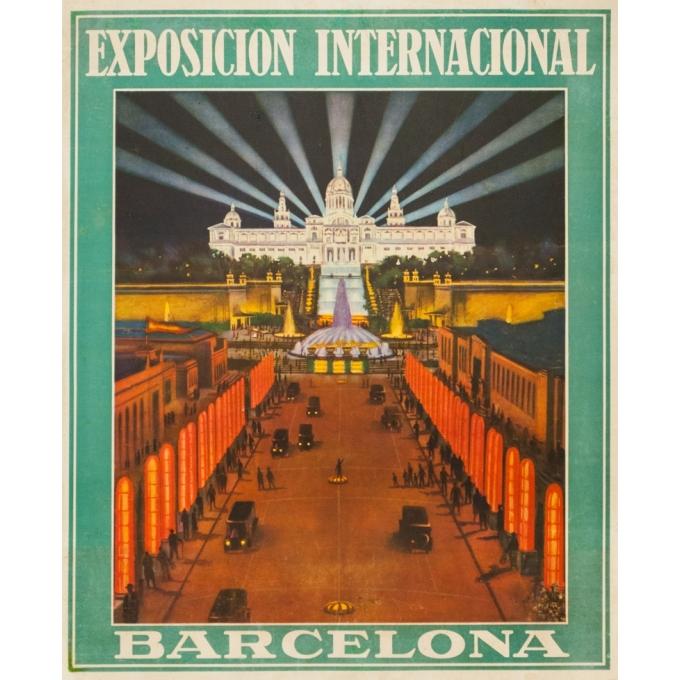 Affiche ancienne d'exposition - Anonyme  - Circa 1930 - Exposicion internacional Barcelona  - 53 par 66 cm
