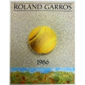 Original poster of Roland Garros 1986 by Jiri Kolar. Elbé Paris.