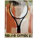 Affiche originale de Roland Garros 1987 par Gérard Titus-Carmel. Elbé Paris.