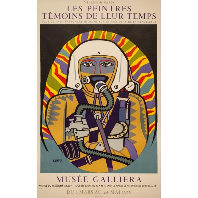 Vintage exhibition poster - A.Lhote - 1959 - Exposition Les Peintres Témoins De Leur Temps Musée Galliera - 29.7 by 18.7 inches
