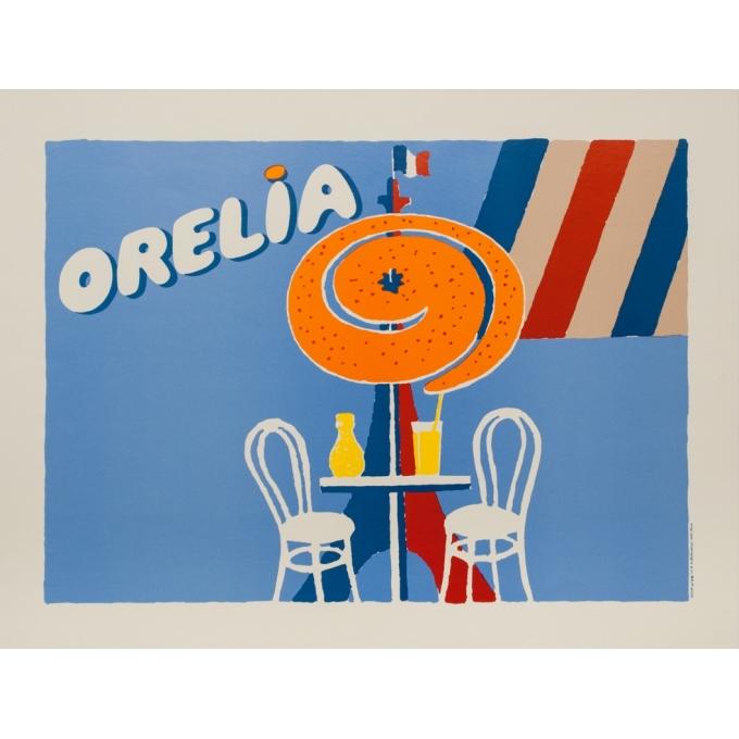 Affiche ancienne de publicité - 1994 - Orelia Orange - 71 par 51 cm