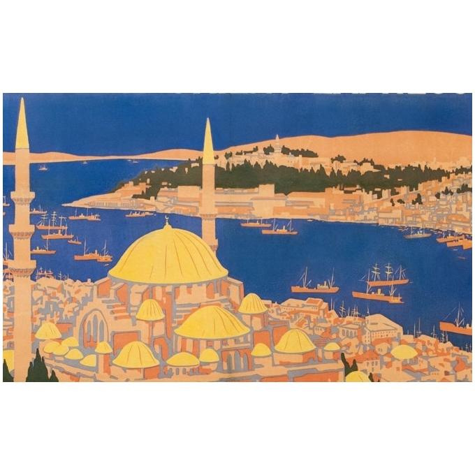Affiche ancienne de voyage - Simplon Orient Express - Roger Broders - 1921 - 2