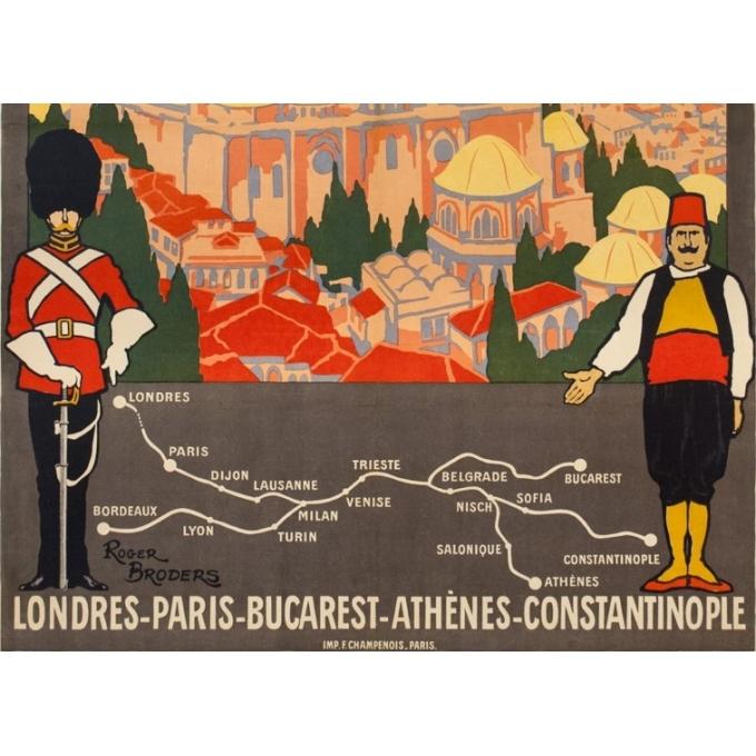 Affiche ancienne de voyage - Simplon Orient Express - Roger Broders - 1921 - 3
