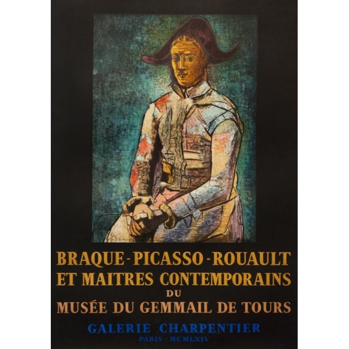 Vintage exhibition poster - Picasso - 1964 - Picasso Exposition Musée Du Gemmail De Tours - 28.2 by 19.9 inches