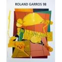 Affiche originale de Roland Garros 1998 par Hervé Télémaque. Elbé Paris.
