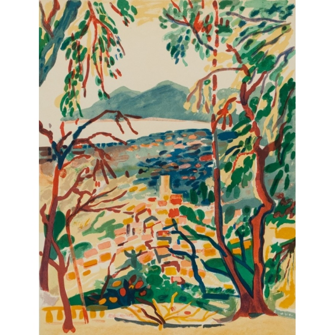 """Vintage exhibition poster - Savary - 1975 - Galerie """"65"""" Cannes - 31.7 by 20.7 inches - 2"""