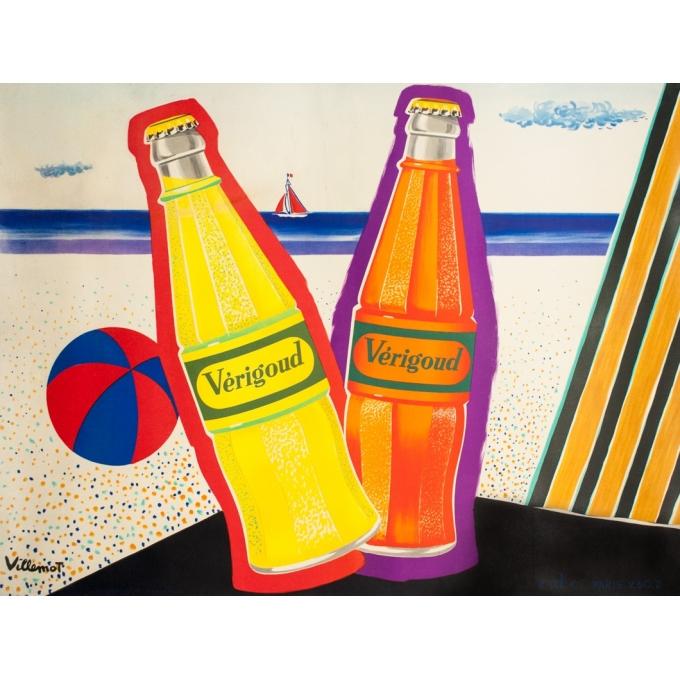 Affiche ancienne de publicité - Bernard Villemot - 1960 - Verigoud - 157 par 120 cm