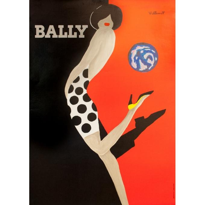 Vintage advertising poster - Bernard Villemot - 1989 - Bally - 50.2 by 35.8 inches