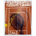 Original poster of Roland Garros 2002 by Arman. Elbé Paris.