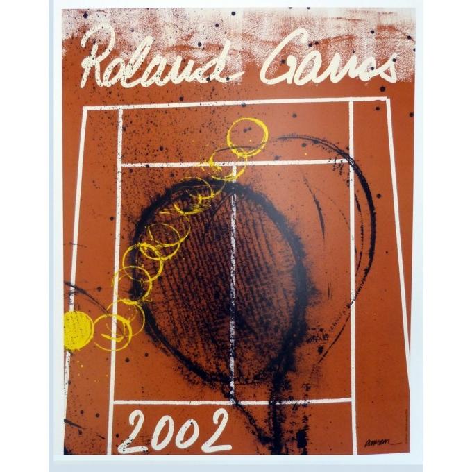 Affiche originale de Roland Garros 2002 par Arman. Elbé Paris.