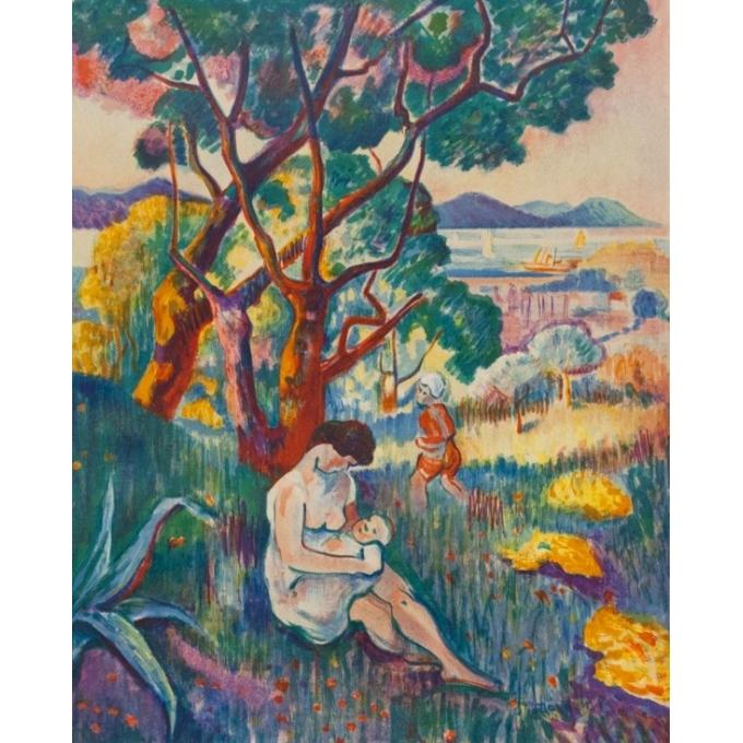 Affiche ancienne d'exposition - Henri Manguin - 1957 - Musée Toulouse-Lautrec - 73.5 par 51.5 cm - 2