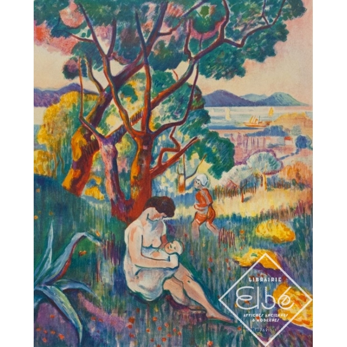 Vintage exhibition poster - Henri Manguin - 1957 - Musée Toulouse-Lautrec - 28.9 by 20.3 inches - 2