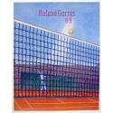 Original poster of Roland Garros 2009 by Konrad Klapheck. Elbé Paris.