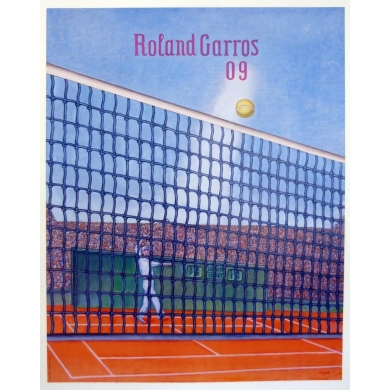 Original poster of Roland Garros 2009 by Konrad Klapheck. Elbé Paris.