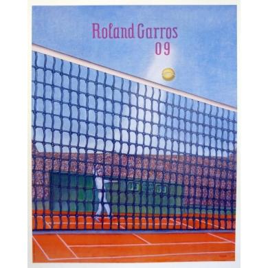 Affiche originale de Roland Garros 2009 par Konrad Klapheck. Elbé Paris.