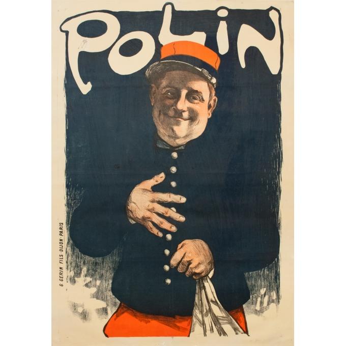 Affiche ancienne d'exposition - Grun - 1910 - Polin Grun - 142 par 100 cm
