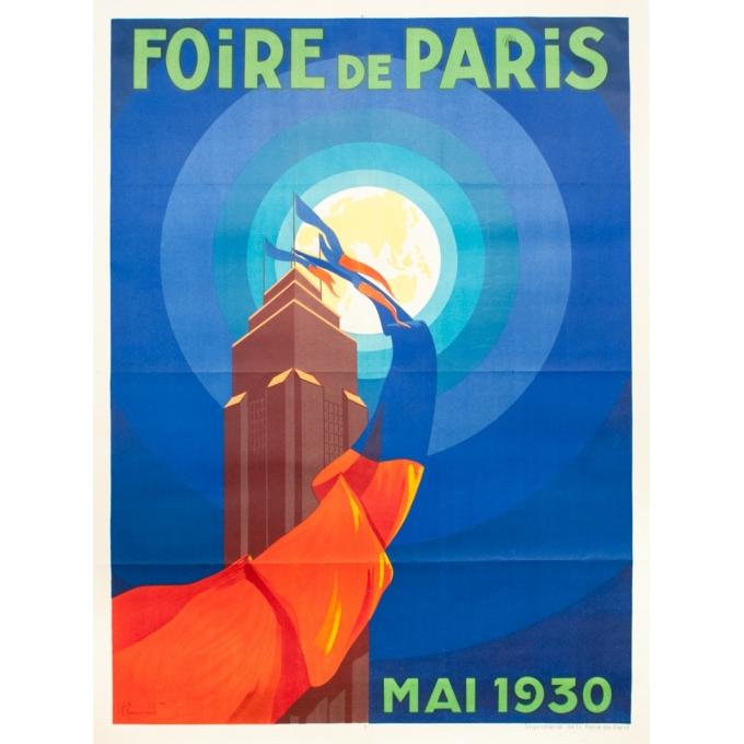 Vintage exhibition poster - P.Commarmont - 1930 - Foire De Paris - 62.2 by 46.6 inches