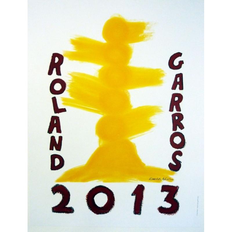 Original poster of Roland Garros 2013 by David Nash. Elbé Paris.