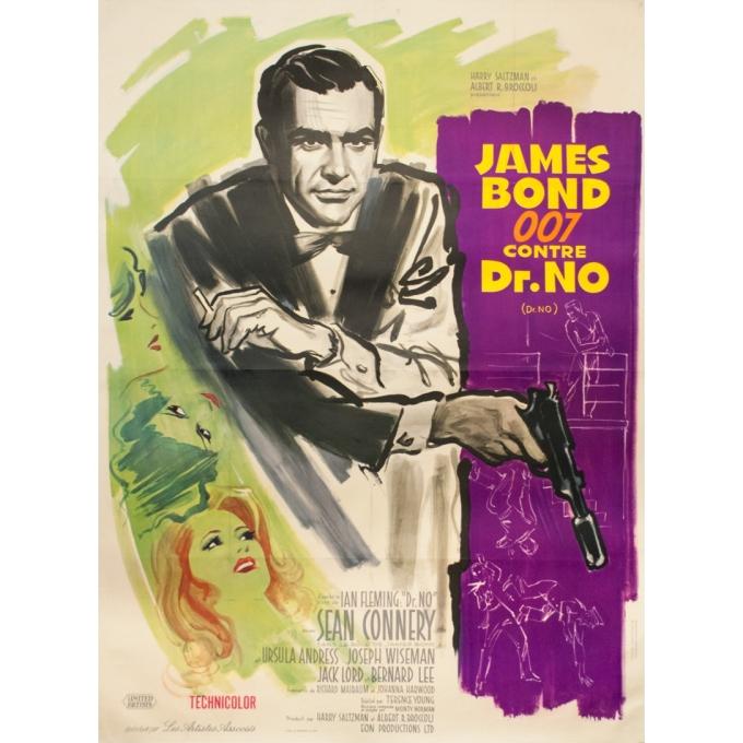 James Bond 007 contre Dr.No (1962)  Affiche oriiginale - 120 cm x 160 cm
