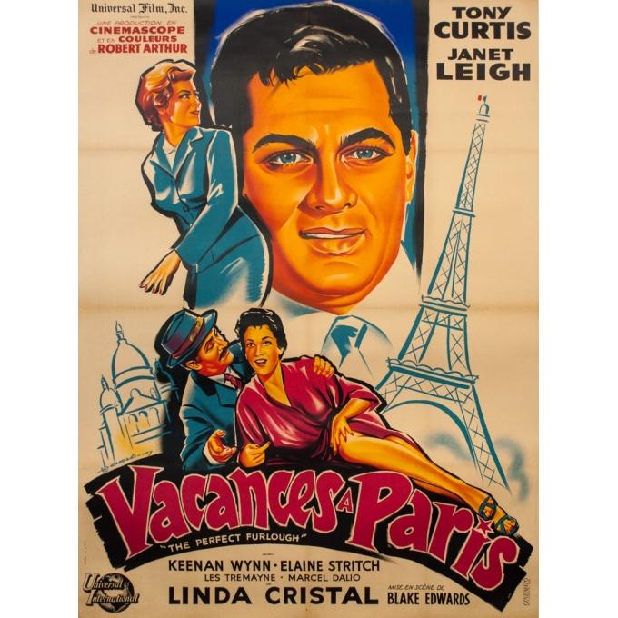 Original vintage movie poster - C Belinsky - 1958 - Vacances À Paris - 63 by 47.2 inches