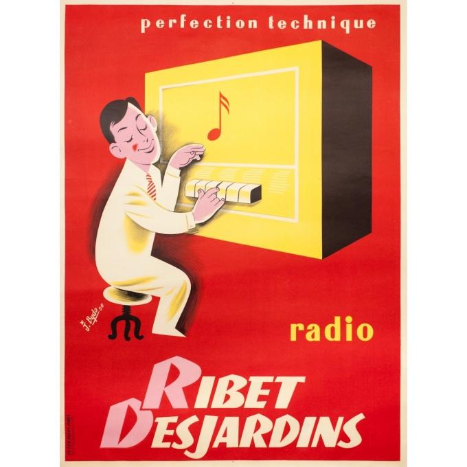 Affiche ancienne de publicité - J.Bydo - 1956 - Ribet Desjardins - 161 par 119 cm