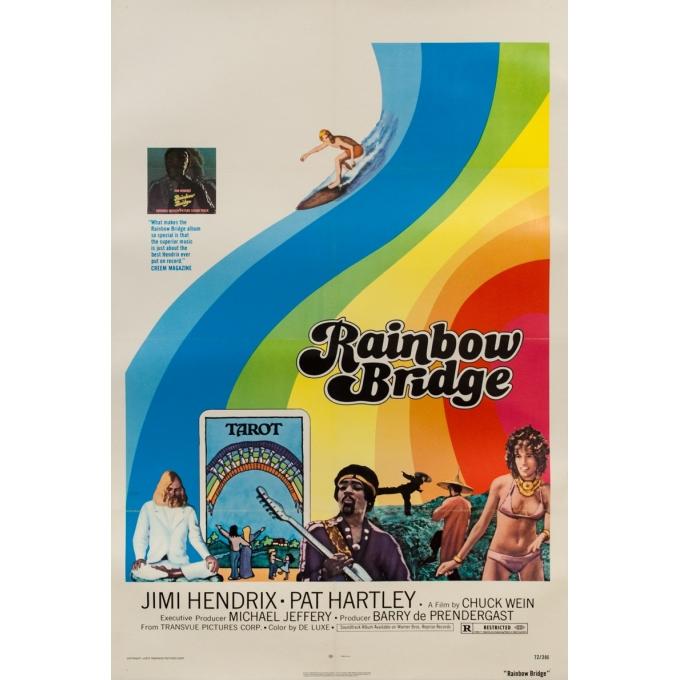 Original vintage movie poster - 1972 - Rainbow Bridge - 40.9 by 27.6 inches