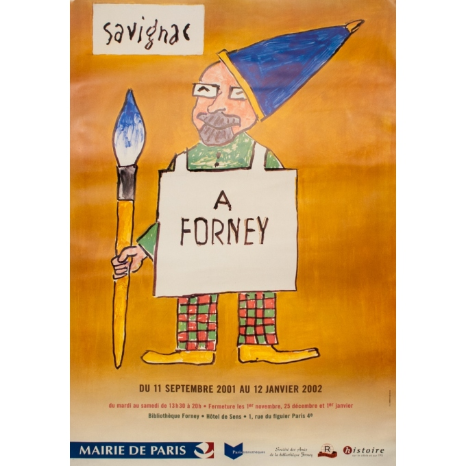 Exhibition poster - Savignac  - 2002 -  Exposition Savignac À Forney - 68.5 by 47.2 inches