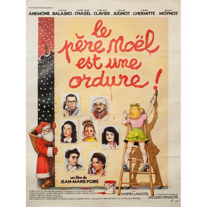 Affiche ancienne de cinéma - Solé - 1982 - Le Père Noël Est Une Ordure - 160 par 120 cm
