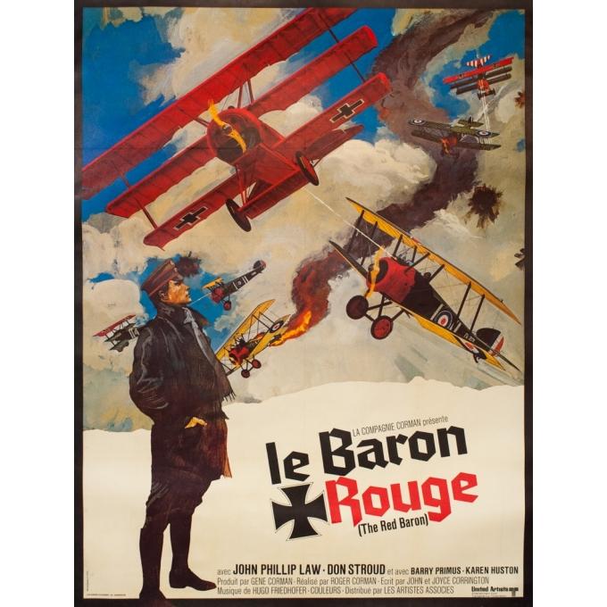 Affiche ancienne de cinéma - 1971 - Le Barron Rouge - 160 par 120 cm