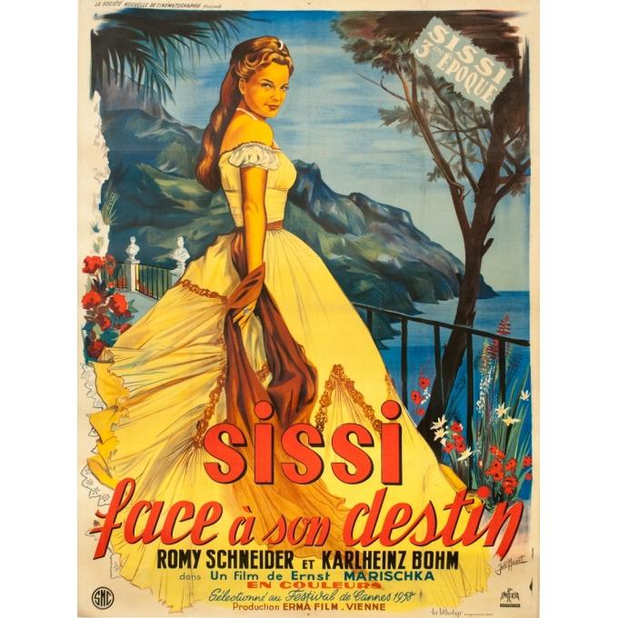 Affiche ancienne de cinéma - Joelle Marquet - Circa 1960 - Sissi L'Impératrice - Face à son Destin - 160 par 120 cm