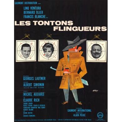 Original vintage movie poster Les tontons flingueurs 1962