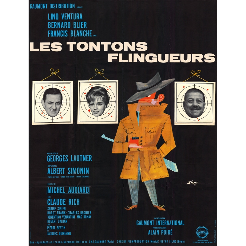affiche film les tontons flingueurs achat vente affiches originales. Black Bedroom Furniture Sets. Home Design Ideas