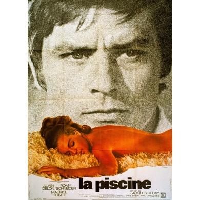 Affiche ancienne originale du film La Piscine Jacques Deray 1969