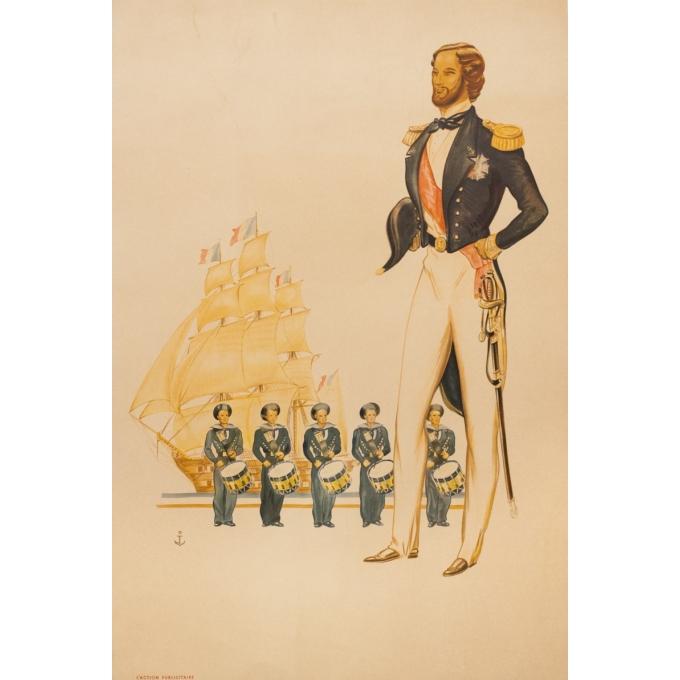 Affiche ancienne de publicité - Monogramé J( Peintre De La Marine) - Circa 1920 - Du Musée De La Marine - 88 par 59 cm