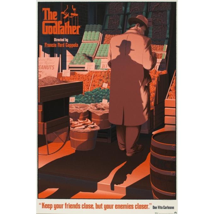Affiche sérigraphiée originale - Laurent Durieux - 2014 - The Godfatherpartie I - Signée N°185/325 - 91.5 par 61.5 cm