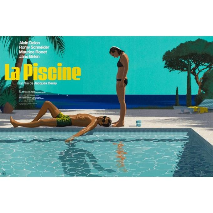Affiche sérigraphiée originale - Laurent Durieux - 2019 - La Piscine variante - N°14/69 - 91 par 61 cm