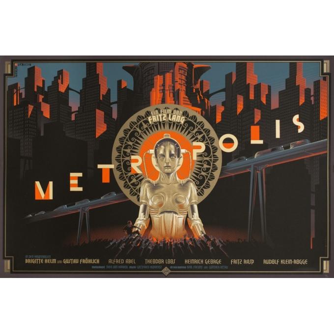 Affiche sérigraphiée originale - Laurent Durieux - 2013 - Metropolis - N°183/200 - 91 par 61 cm