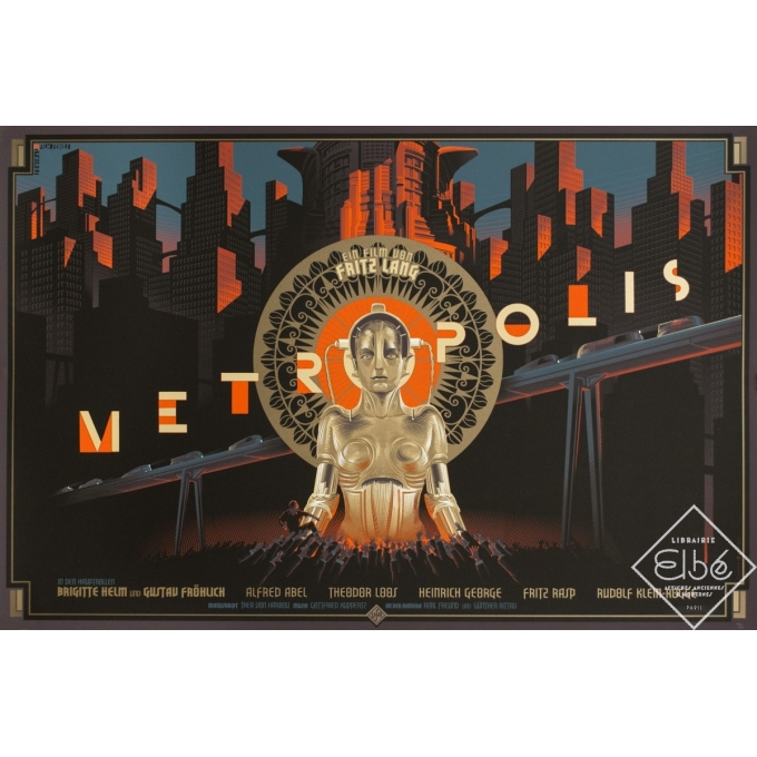 Silkscreen poster - Laurent Durieux - 2013 - Metropolis - N°183/200 - 35.8 by 24 inches