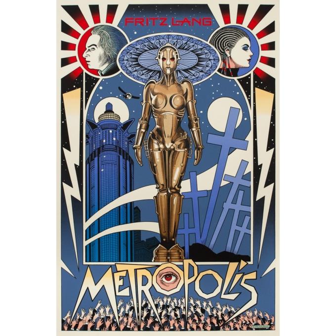 Affiche sérigraphiée originale - William Stout - 2016 - Metropolis - N°26/75 - 91.5 par 61 cm