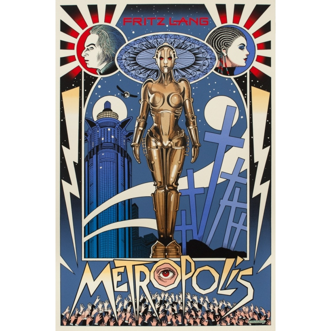 Silkscreen poster - William Stout - 2016 - Metropolis - N°26/75 - 36 by 24 inches