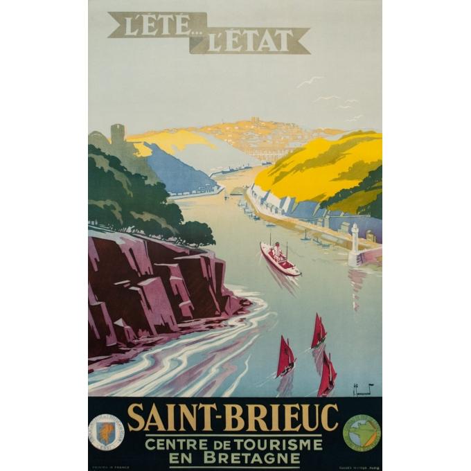 Vintage travel poster - Pierre Commarmond - Circa 1930 - Saint Brieuc Centre de Tourisme en Bretagne - 39.4 by 24.6 inches
