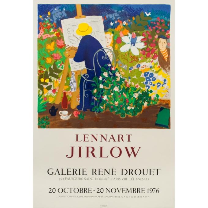 Affiche ancienne d'exposition - Lennart Jirlow - 1976 - Lennart Jirlow - 71 par 48 cm