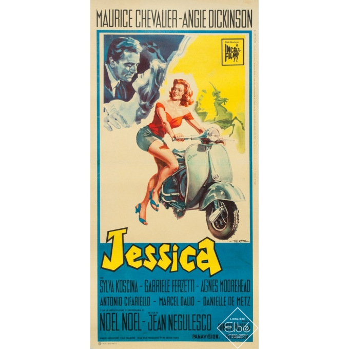 Original vintage movie poster - Veseta - 1961 - Jessica - italy - 26 by 12.6 inches