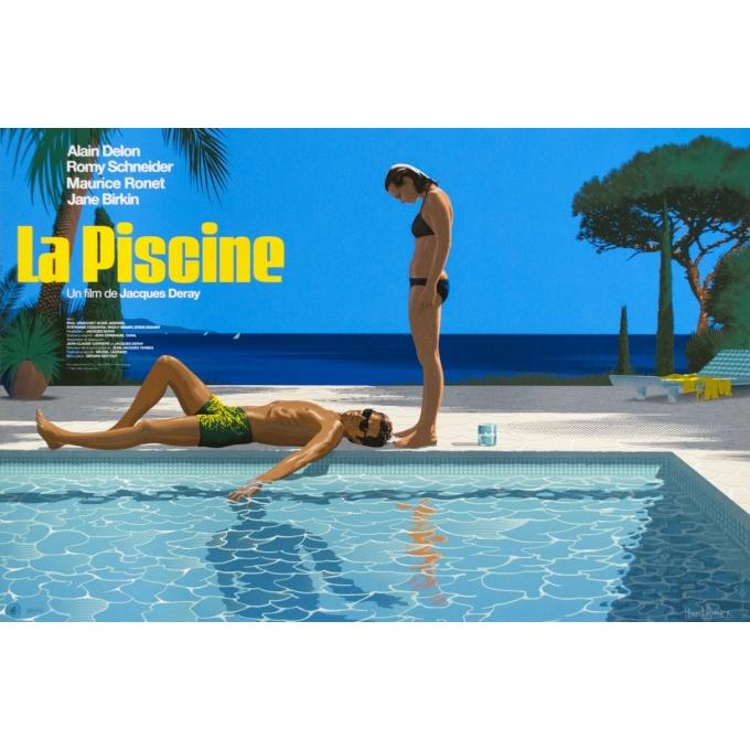 Sérigraphie de cinéma - Laurent Durieux - 2019 - La Piscine, regular, signée, n°287/300 - 91 par 61 cm