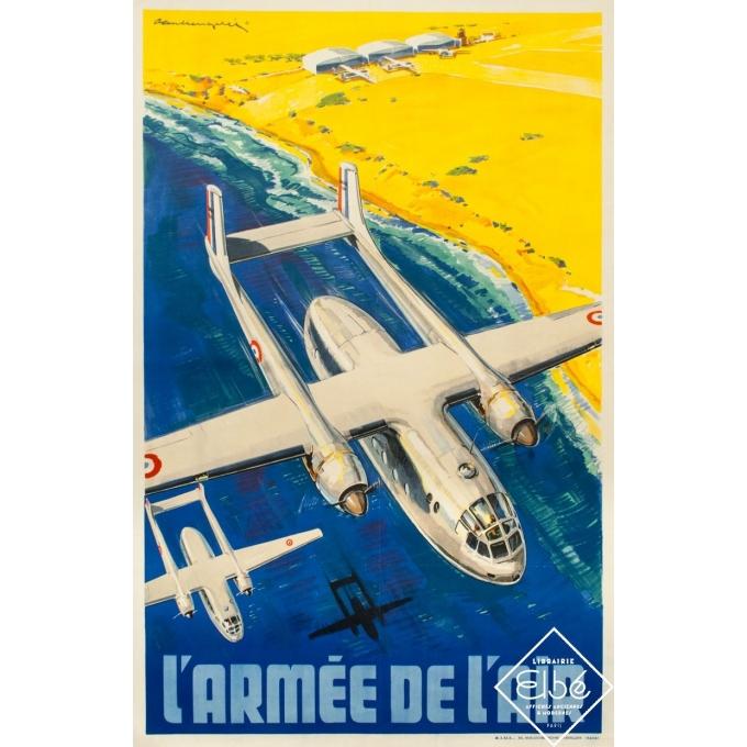 Vintage advertising poster - Paul Lengellée - 1950 - Armée de l'air - 39.4 by 25.8 inches