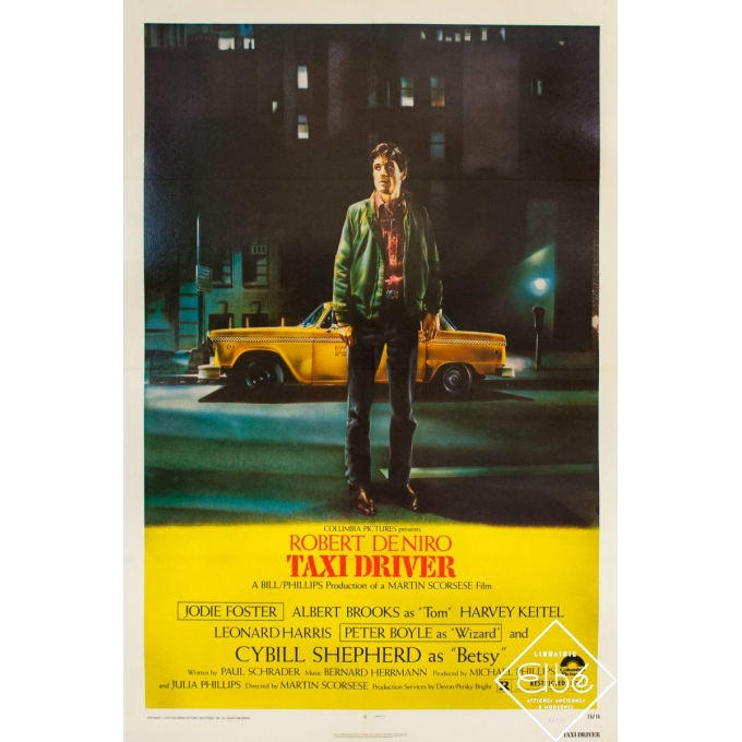 Original vintage movie poster - 1976 - Taxi Driver - One sheet - 40.9 by 27.2 inches
