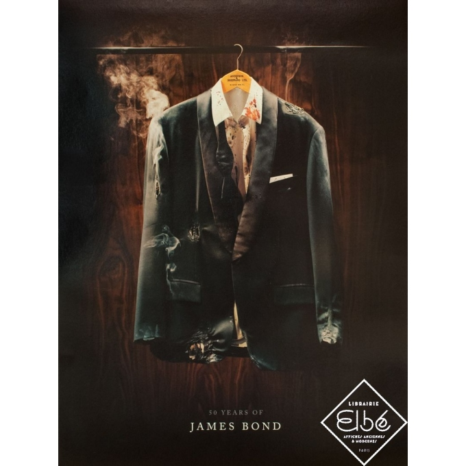Original movie poster - Circa 2010 - Fifty years of James Bond - 31.1 by 23.6 inches